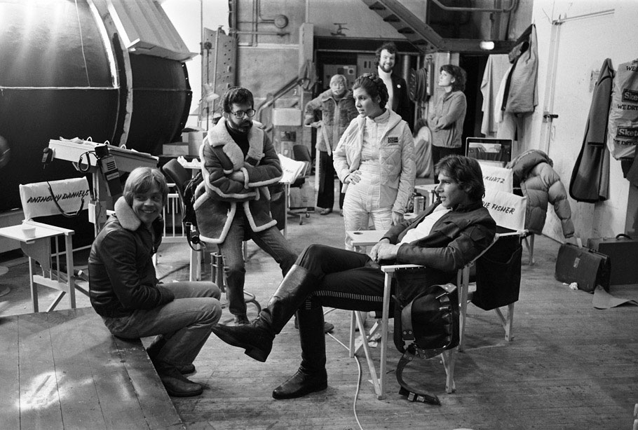 Hamill, George Lucas, Fisher, and Ford